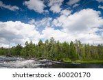 wildlife Russia. River in North Karelia. Russia - stock photo