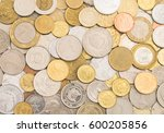 collection of coins from around ...   Shutterstock . vector #600205856