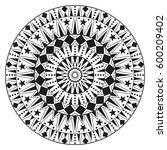 round ethnic ornament mandala.... | Shutterstock . vector #600209402