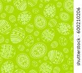 hand drawn easter eggs.... | Shutterstock .eps vector #600210206
