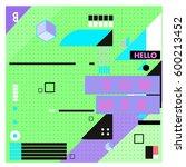 trendy vector summer cards...   Shutterstock .eps vector #600213452