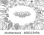 poster template with hand drawn ... | Shutterstock .eps vector #600215456