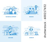 modern flat color line designed ... | Shutterstock .eps vector #600217652