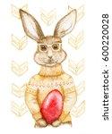 Easter Bunny   Watercolor...