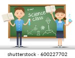 students in the science class.... | Shutterstock .eps vector #600227702