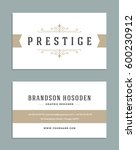 vintage ornament business card... | Shutterstock .eps vector #600230912