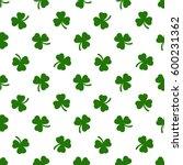 clover leaves background. st.... | Shutterstock . vector #600231362