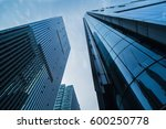 low angle view of modern office ... | Shutterstock . vector #600250778