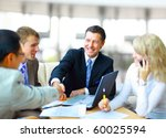 business people shaking hands ...   Shutterstock . vector #60025594