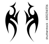 tattoo tribal vector designs.... | Shutterstock .eps vector #600256556