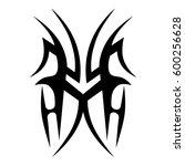 tattoo tribal vector designs... | Shutterstock .eps vector #600256628