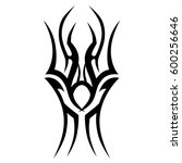 tribal designs. tribal tattoos. ... | Shutterstock .eps vector #600256646
