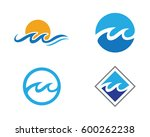 water wave symbol and icon logo ...   Shutterstock .eps vector #600262238
