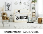 White Kid Bedroom With House...