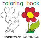 vector  book coloring flowers... | Shutterstock .eps vector #600282266
