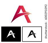 letter a logo vector   Shutterstock .eps vector #600291092