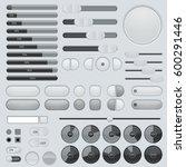 set of interface buttons. grey... | Shutterstock . vector #600291446