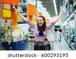 shopaholic woman enjoying...   Shutterstock . vector #600293195