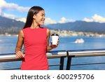 happy multiethnic business... | Shutterstock . vector #600295706