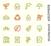 green ecology web icons set | Shutterstock .eps vector #600299858