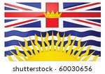 Glossy jpeg illustration of the flag of the province of British Columbia, Canada - stock photo