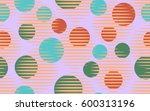seamless pattern. halftone... | Shutterstock .eps vector #600313196