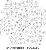 paisley pattern on white...   Shutterstock .eps vector #6003157