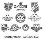 vector set on soccer theme for... | Shutterstock .eps vector #600323162
