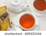 Black Tea Cups And Pot   Herba...