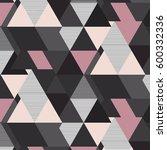 vector geometrical mosaic... | Shutterstock .eps vector #600332336