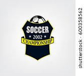 soccer or football logo design  ... | Shutterstock .eps vector #600358562