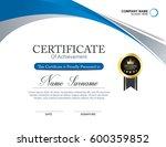 vector certificate template | Shutterstock .eps vector #600359852
