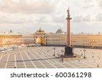 alexander column on palace...   Shutterstock . vector #600361298