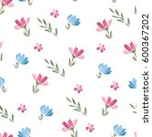 floral seamless pattern of... | Shutterstock . vector #600367202