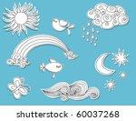 doodle elements  nature  paper...