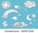 doodle elements  nature  paper... | Shutterstock .eps vector #60037268