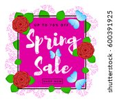 spring sale colorful background ... | Shutterstock .eps vector #600391925