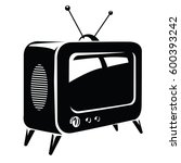 retro television. isolated... | Shutterstock .eps vector #600393242