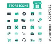 store icons | Shutterstock .eps vector #600397352