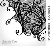 black lace vector design | Shutterstock .eps vector #60040085