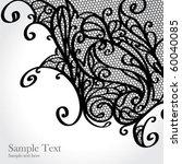 black lace vector design   Shutterstock .eps vector #60040085