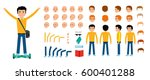 man character creation set.... | Shutterstock .eps vector #600401288