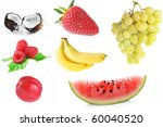 collage of different fruits on... | Shutterstock . vector #60040520