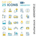 set  line icons in flat design... | Shutterstock . vector #600405812