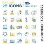 set  line icons in flat design... | Shutterstock . vector #600405812