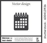 calendar icon  vector... | Shutterstock .eps vector #600413936