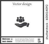 safe people  vector icon... | Shutterstock .eps vector #600414092