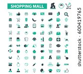 shopping mall icons  | Shutterstock .eps vector #600419765