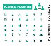 business partners icons  | Shutterstock .eps vector #600421952