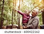 granddaughter with cute little... | Shutterstock . vector #600422162